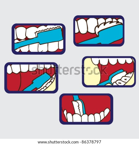 illustration of how to brush your teeth