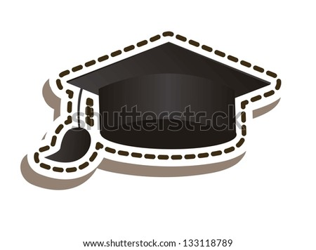 Illustration of icons of graduates. school icons. vector illustration - stock vector