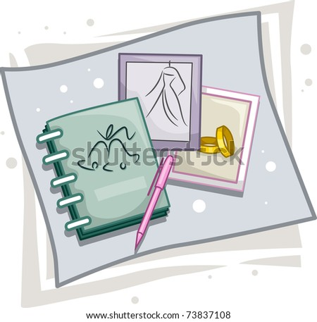 Illustration of Icons Representing Wedding Planners