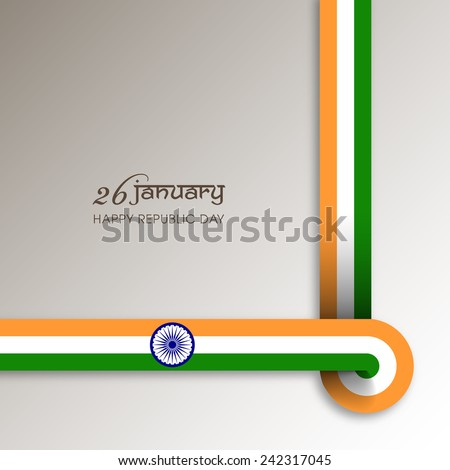 Illustration of Indian republic day,26 January.