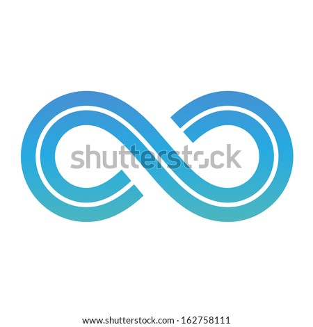 Illustration of Infinity Symbol Design isolated on a white background - stock vector