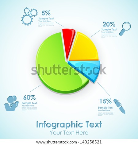 illustration of Infographic Pie Chart with different label