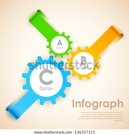 illustration of infographics options banner for presentation and promotion - stock vector