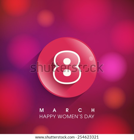Illustration of International women's day,eighth of march. - stock vector