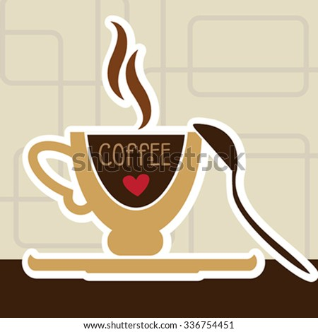 illustration of isolated a cup of coffee - stock vector
