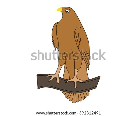 illustration of isolated eagle on white background - stock vector