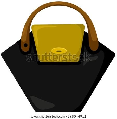 illustration of isolated girl hand bag on white  - stock vector