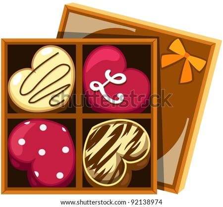 illustration of isolated heart chocolate on white background