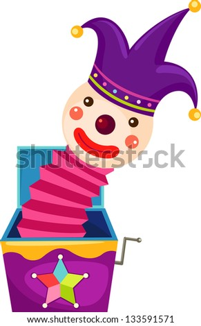 illustration of isolated Jack in the box on white background vector