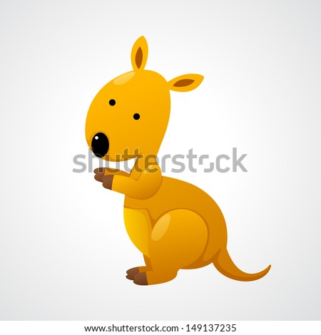 illustration of isolated kangaroo - stock vector