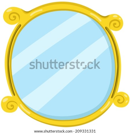 illustration of isolated mirror on white background