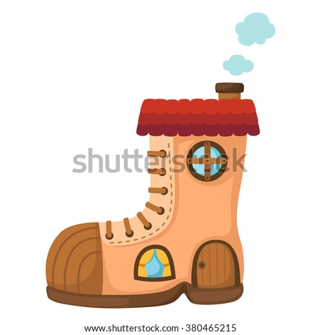 Illustration of isolated  Mushroom house.vector - stock vector