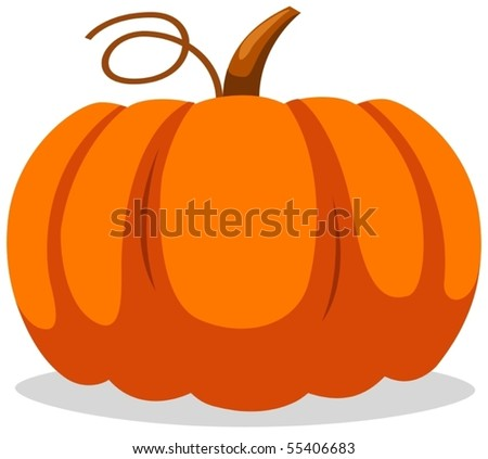 illustration  of isolated  pumpkin on white background - stock vector