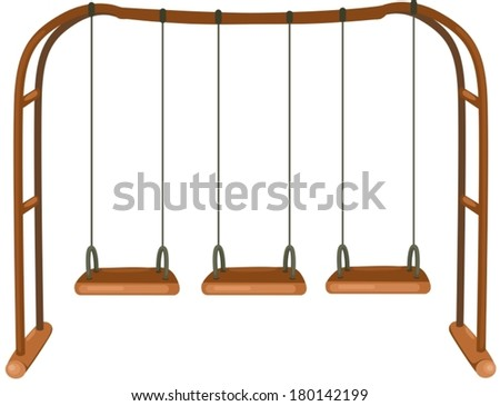 illustration of isolated swing on white background - stock vector