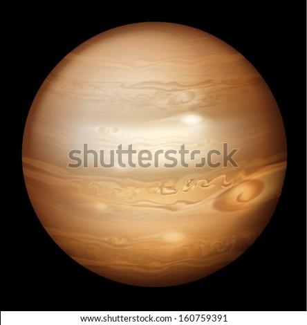Illustration of Jupiter - stock vector