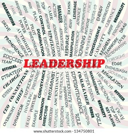 illustration of leadership concept - stock vector