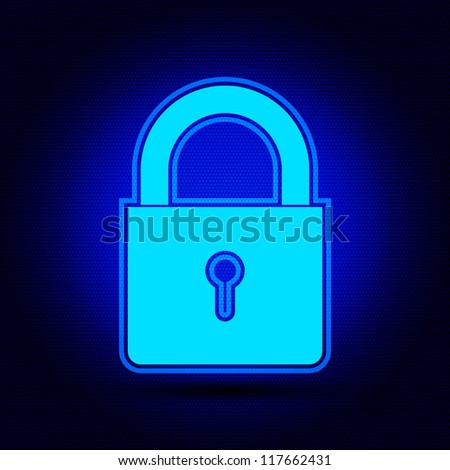 Illustration of lock concept / Security concept - stock vector