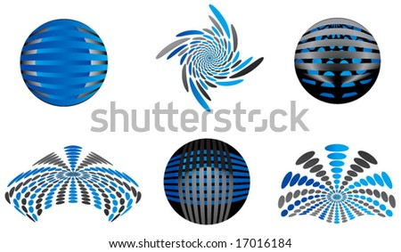 Illustration of logos - stock vector
