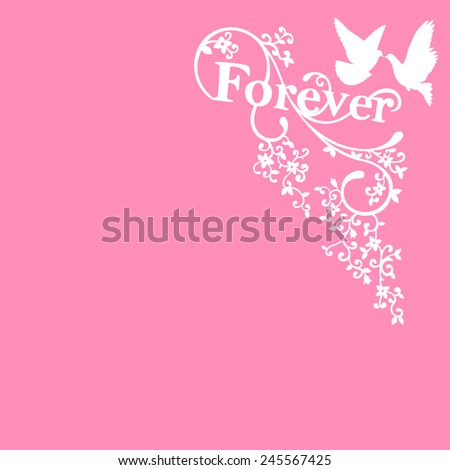 illustration of love background for happy valentines day card - stock vector