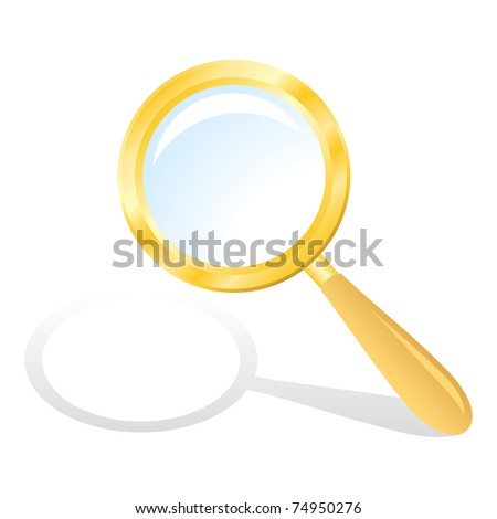 Illustration of Magnifying glass isolated on a white background.