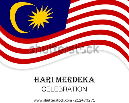 Illustration of Malaysia flag for Hari Merdeka celebration