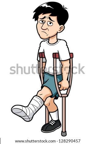 illustration man broken leg stock photo photo vector illustration rh shutterstock com broken leg cartoon pic broken leg cartoon clipart
