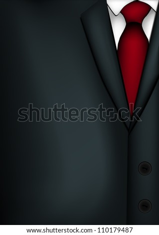 Illustration of mans suit.