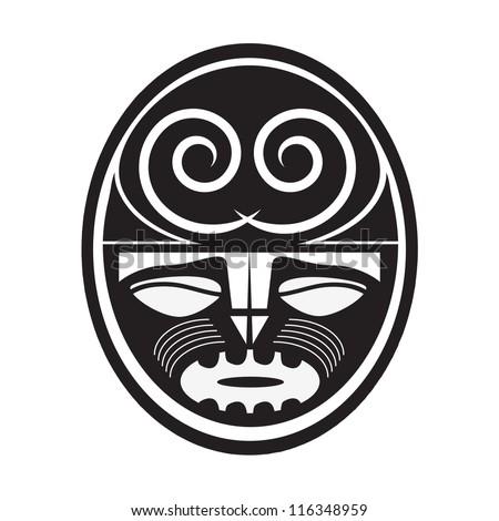 Illustration of Maori style symbol - stock vector