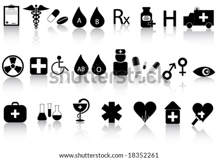 Illustration of medical icons