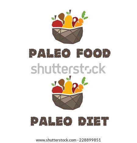 Illustration of menu paleo diet. Vector  - stock vector