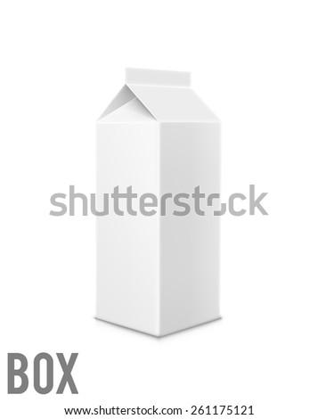 Illustration of milk box - stock vector