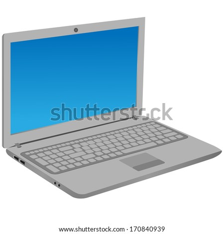 Illustration of mobility computer. Vector EPS-10.  - stock vector