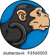 Illustration of Monkey Icon - Year of the Monkey - stock vector