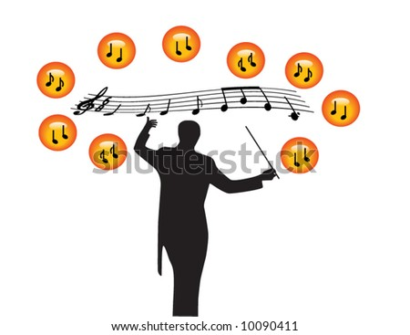 Illustration of music - stock vector
