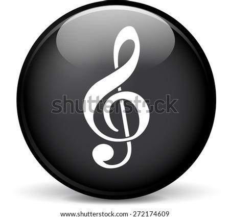 Illustration of music modern design black sphere icon - stock vector