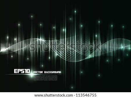 illustration of musical bar showing volume. - stock vector