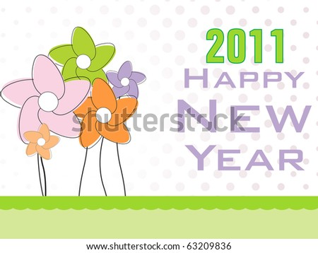 Illustration Nappy New Year 2011 Wallpaper Stock Vector (Royalty ...