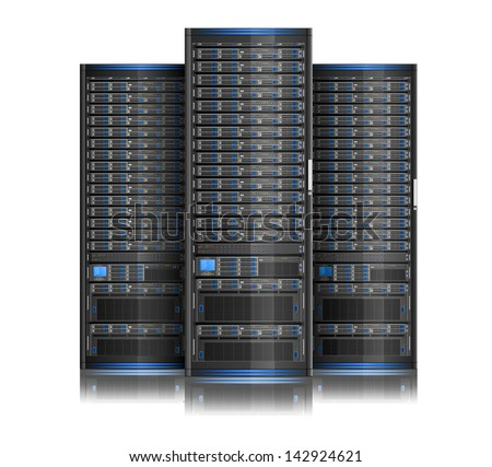 Illustration of network server, EPS 8, no transparency - stock vector