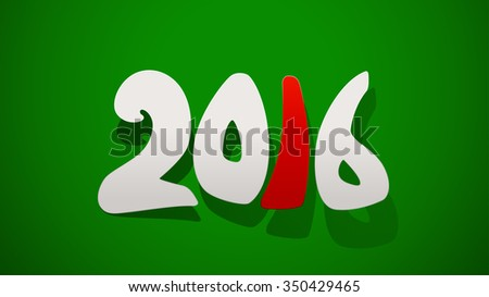 illustration of new year icon numbers on green background