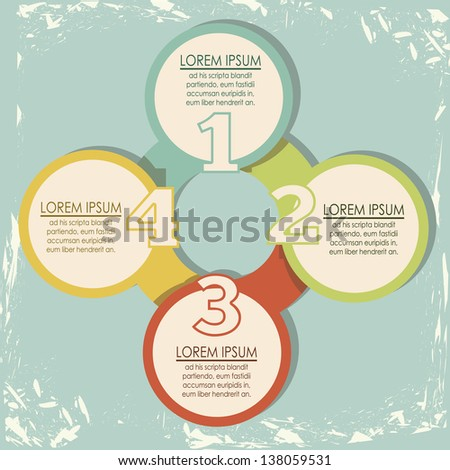 Illustration of Numbers Brochure, step by step, count or list, vector illustration