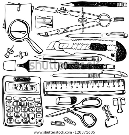 illustration of objects - stock vector