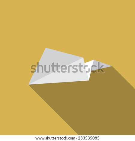 Illustration of origami paper airplane - stock vector