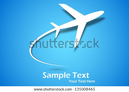 illustration of paper airplane taking off - stock vector