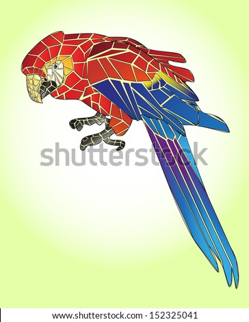 Illustration of  parrot