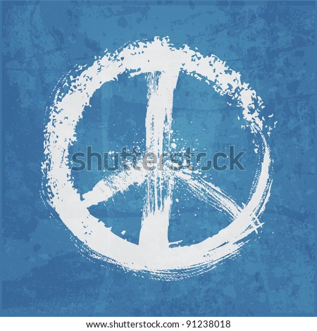 illustration of  peace sign - stock vector