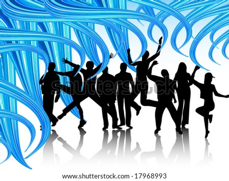 Illustration of people - stock vector