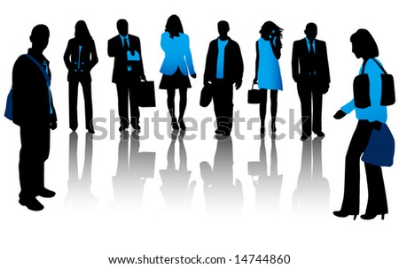 Illustration of people and shadow