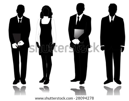 Illustration of people and shadows