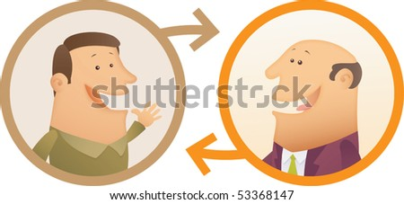 Illustration of People Connection - stock vector