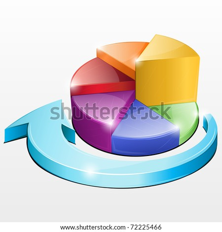 illustration of pie chart on isolated background
